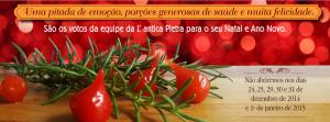 Banner de Natal para site e capa para Facebook. Cliente Pizzaria L'Antica Pietra.