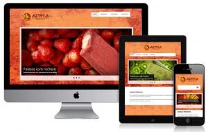 Tema de site personalizado e adaptado para identidade visual da empresa.