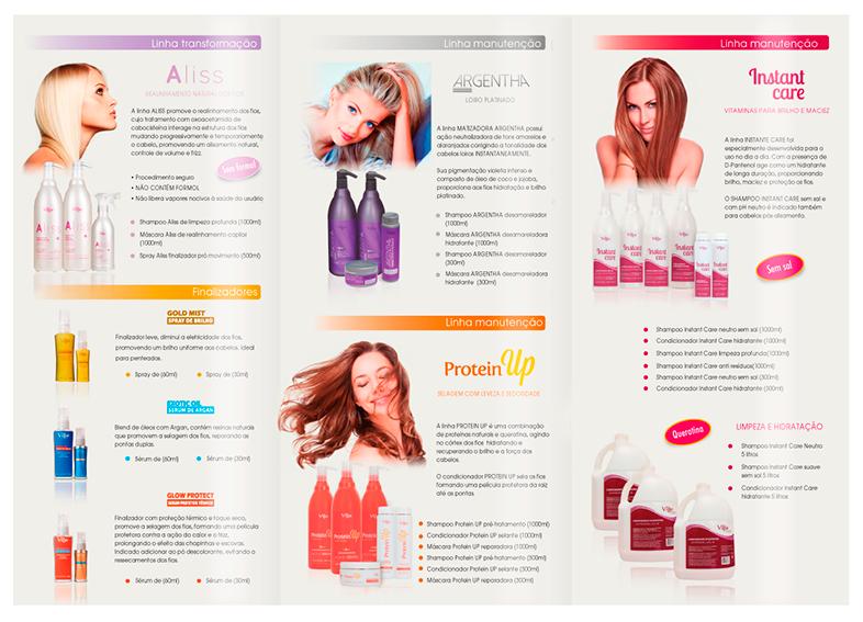 diagramacao de catalogo de cosmeticos