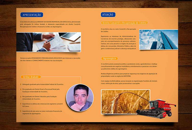 Folder apresentação escritório advocacia