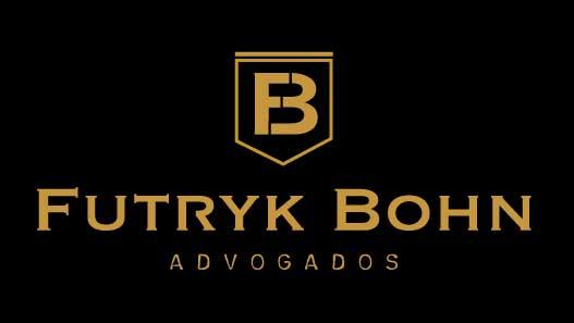 Identidade Visual de logotipo de advogado sobre fundo na cor preta