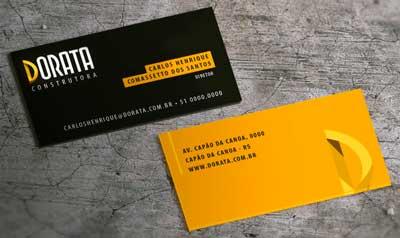 Cartão de visita engenheiro civil e para construtora